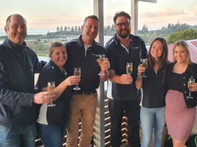 The team at Bermagui Cellars, winner of the Retail Drinks Industry Award for Liquor Store of the Year